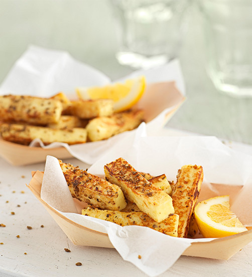 Haloumi chips with dukkah