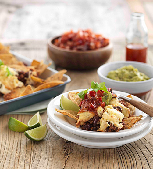 Smoked Cheese and chilli nachos